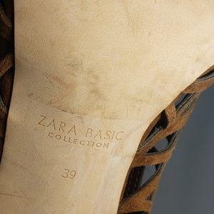 Zara Shoes - Zara Basic Collection Brown Heels